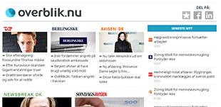 F[ overblikket over dagens nyhedsoverskrifter